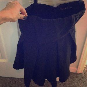Sexy black strapless shorts romper